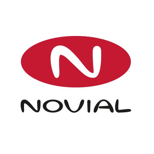 Logo Novial fond rond blanc